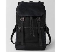 SASSOLUNGO RUCKSACK AUS HI-TECH-CANVAS IN NERO