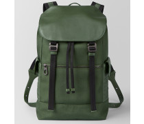 SASSOLUNGO RUCKSACK AUS HI-TECH-CANVAS IN FOREST