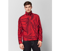 JACKE AUS POLYESTER IN CHINA RED