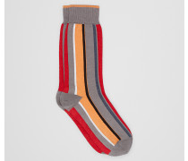 SOCKEN AUS BAUMWOLLE IN FLAME ORANGE