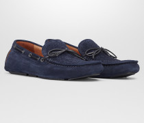 WAVE DRIVER SCHUHE AUS INTRECCIATO VELOURSLEDER IN DARK NAVY