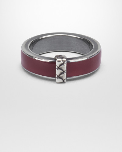 RING AUS EMAILLIERTEM SILBER IN BAROLO