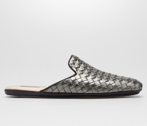 FIANDRA SLIPPER AUS INTRECCIATO NAPPA IN DARK MOSS