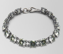 ARMBAND AUS OXIDIERTEM SILBER/CUBIC ZIRCONIA IN CHAMOMILE