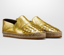 GALA ESPADRILLES AUS KALBSLEDER INTRECCIATO IN LIGHT GOLD