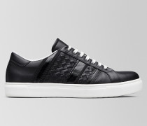 BV TECH STRIPE SNEAKER AUS KALBSLEDER IN NERO