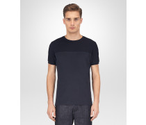 T-SHIRT AUS BAUMWOLLE IN DARK NAVY