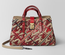 ROMA TASCHE AUS INTRECCIATO PIED DE POULE IN CHINA RED
