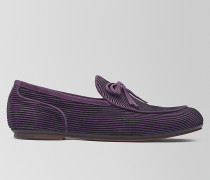 BV TRINITY LOAFER AUS VELOURSLEDER IN GRAPE
