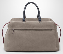 DUFFEL BAG AUS WILDLEDER IN STEEL