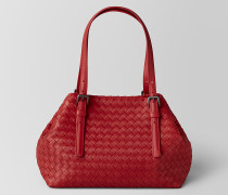 TOTE BAG AUS INTRECCIATO NAPPA IN CHINA RED