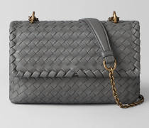 BABY OLIMPIA TASCHE AUS INTRECCIATO NAPPA IN NEW LIGHT GREY