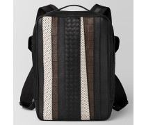 STRADE BRICK RUCKSACK AUS NAPPA IN NERO/KOSTBARER MIX