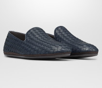 FIANDRA SLIPPER AUS INTRECCIATO KALBSLEDER IN DENIM