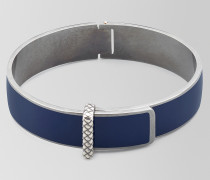 ARMBAND AUS OXIDIERTEM SILBER/EMAILLE IN ATLANTIC