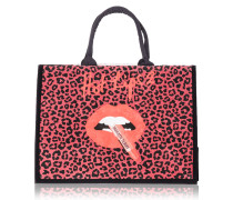Hot Lips 2 Tote Bag - The Timeless Leopard In Modern
