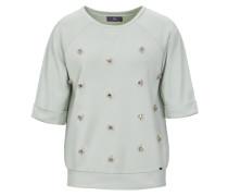 Sweatshirt mit Schmucksteinen