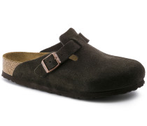Boston Suede Leather Soft Footbed Mocca