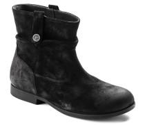 Sarnia Suede Leather Black