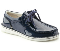 Pasadena Embossed Leather Patent Navy