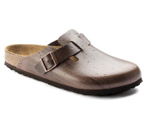 Boston Embossed Leather Hail Storm Brown Silver