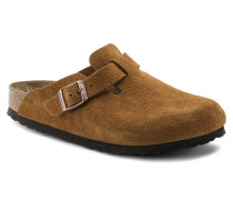 Boston Suede Leather Soft Footbed Mink