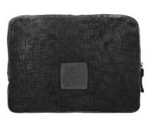Assenzio Laptophülle Leder 33 cm Laptopfach black