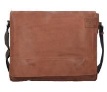 Upminster Messenger Leder 39 cm Laptopfach cognac