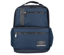 Openroad Business Rucksack Leder 44 cm Laptopfach space blue