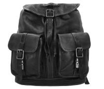 Castagno Rucksack Leder 40 cm black