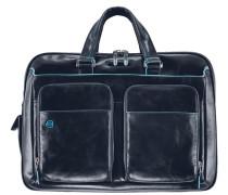 Blue Square Aktentasche Leder 41 cm Laptopfach nachtblau