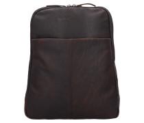 Dex Rucksack Leder 39 cm Laptopfach braun