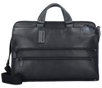 Pulse 4025 Aktentasche Leder 42 cm Laptopfach black