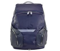 Coleos Rucksack Leder 46 cm Laptopfach blue