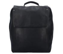 Ivy Rucksack Leder 38 cm Laptopfach schwarz