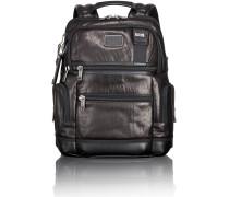 Alpha Bravo Leather Knox 2 Business Rucksack 40 cm Laptopfach black leather