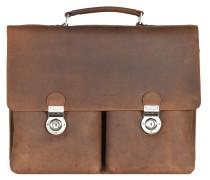 Antico Aktentasche Leder 42 cm Laptopfach natur