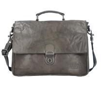 Bronco Messenger Bag Tasche Leder 35 cm Laptopfach charcoal