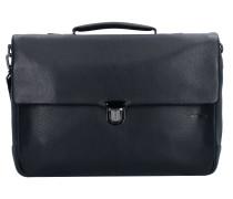 Garret Aktentasche Leder 40 cm Laptopfach black