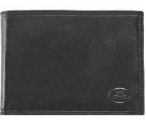 Uomo Geldbörse Leder 13cm nero