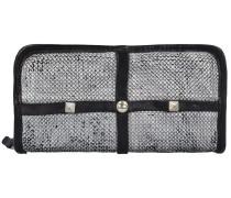 Traditional Geldbörse Leder 21 cm argento grigio