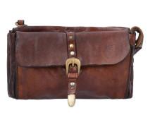 Carry Over Geldbörse Leder 18 cm cognac