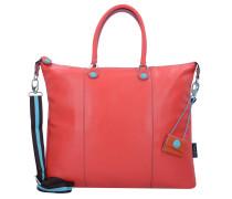 G3 Handtasche Leder 43 cm piatta trasformalbile escudo rosso