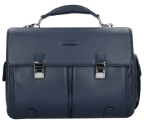Modus Aktentasche Leder 43 cm Laptopfach blue