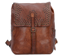 Traditional City Rucksack Leder 35 cm cognac