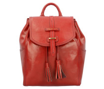 Florentin City Rucksack Leder 34 cm red currant / gold