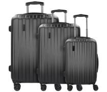 Lima 2.0 4-Rollen Kofferset 3tlg mit Doppelrollen schwarz
