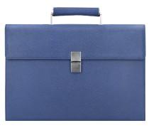 French Classic 3.0 Aktentasche Leder 41 cm blue