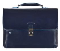 Blue Square Aktentasche II Leder 40 cm Laptopfach nachtblau
