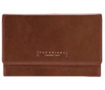 Passpartout Donna Geldbörse Leder 15 cm marrone